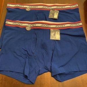 2 pairs Jockey Brand Boxer Briefs